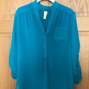 Tops - Teal Blouse/Tunic